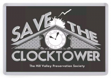 Save the Clocktower Fridge Magnet. Inspired by Back to the Future